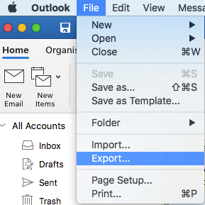 export olm file outlook mac