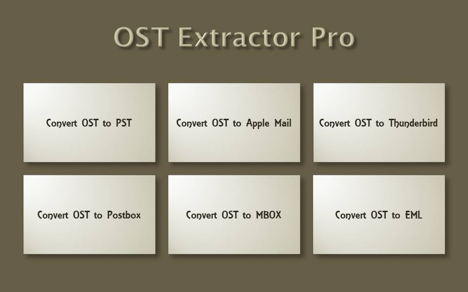 Export OST to Apple Mail