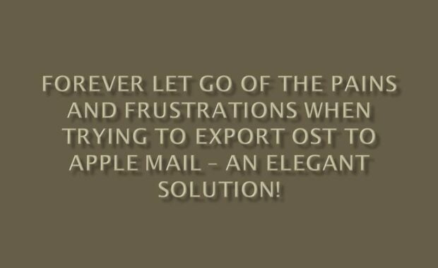 How to Export OST to Apple Mail